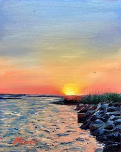 Sunset at Jones Beach