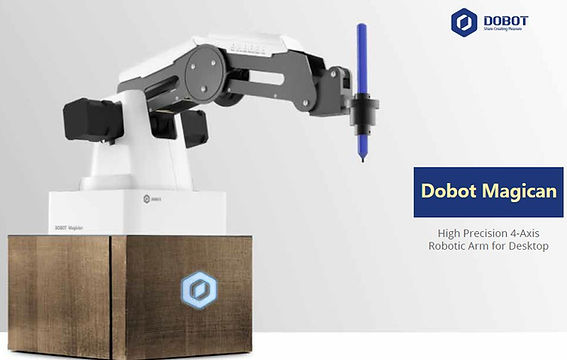 Dobot Magician is a multi-functional smart robotic arm platform designed for high end STEAM education. It can do 3D printing, laser engraving, writing & drawing.