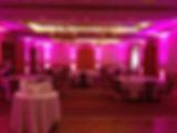 pink venue uplighting