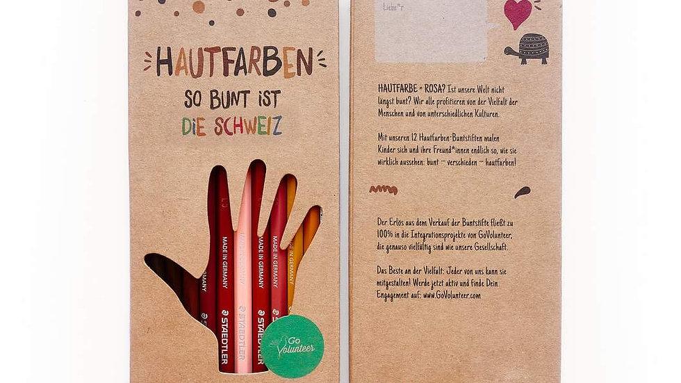 Hautfarben Buntstifte Schweiz