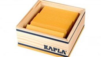 Kapla 40er Quadrat gelb