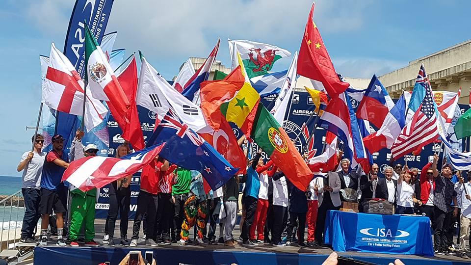 Le défilé des nations aux championnats du monde en France 2017, auxquels le Sénégal a participé.