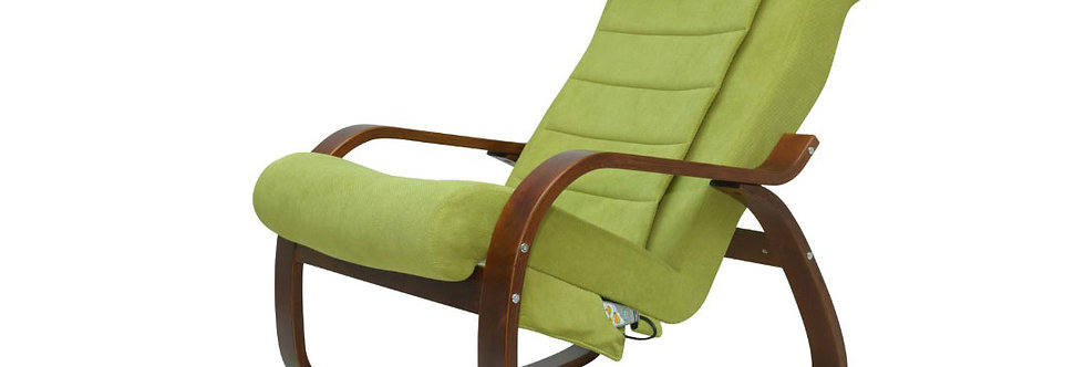 Массажное кресло-качалка для отдыха Микрофибра Оливковый