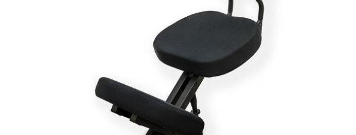 KM01BМ Black без чехла. Металлический коленный стул (со спинкой) Артикул: 0189