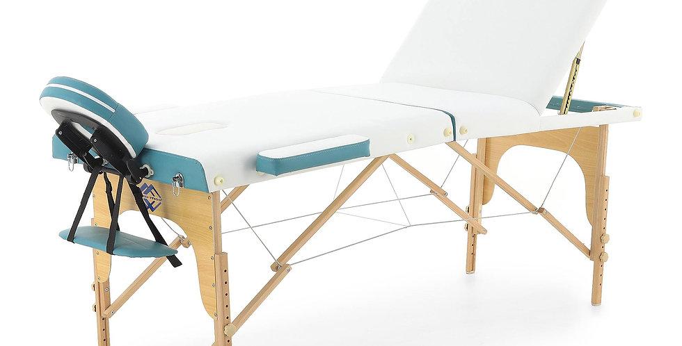 Массажный стол складной деревянный  JF-AY01 3-х секционный (светлая рама)