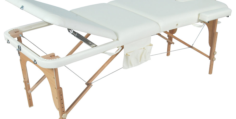 Массажный стол складной деревянный  JF-AY01 3-х секционный М/К (МСТ-103Л)