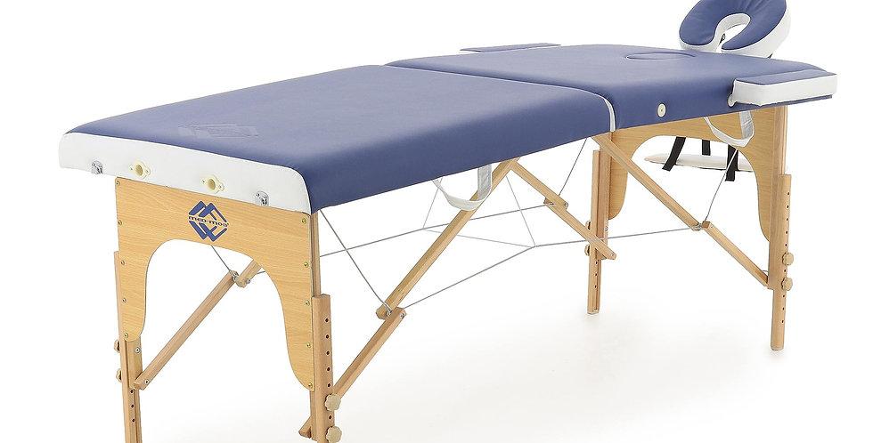 Массажный стол складной деревянный  JF-AY01 2-х секционный (светлая рама)