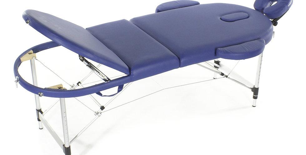 Массажный стол складной алюминиевый  JFAL03 М/К (3-х секционный) (МСТ-331