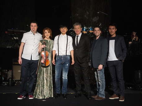 Jason Zhang, Lindsey Stirling and David Foster