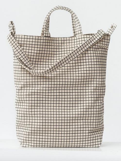 Natural Grid Duck Bag
