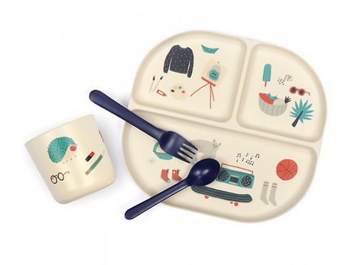 Blue Kids Dinner Set