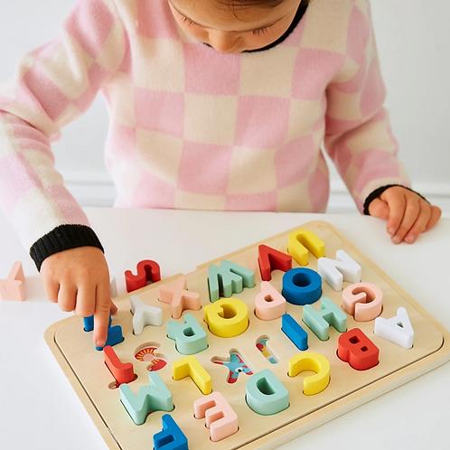 Multi-Language Wooden Tray Puzzle