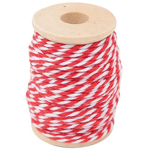 Rot-weiße Baumwollgarn