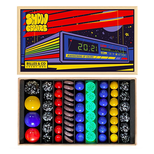 Show Colors Radio Marbles Box