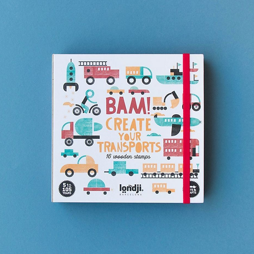Wooden Stamps - Bam! Transports
