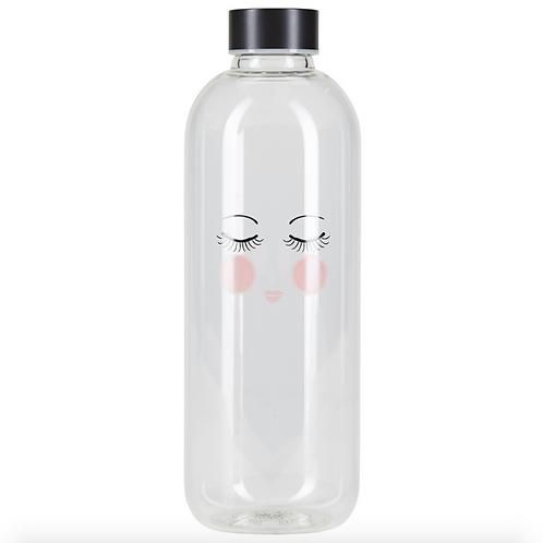 Closed Eyes Water Glass Bottle