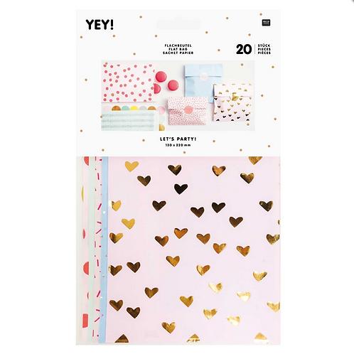 Flat Paper Bag Heart You (M)