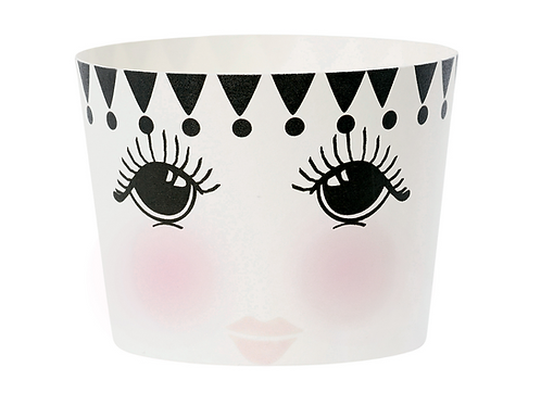Opened Eyes Paper Baking Cup