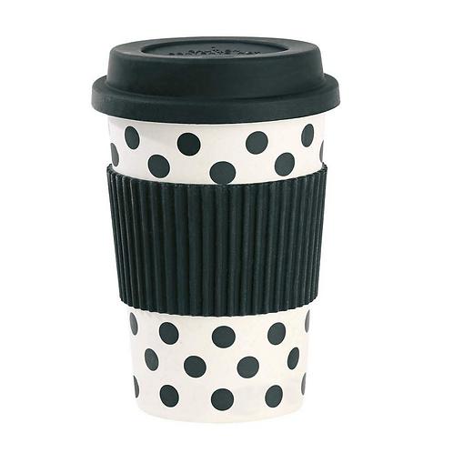 Black Dots Travel Mug