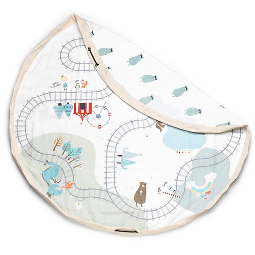 Train Map Play Mat Bag