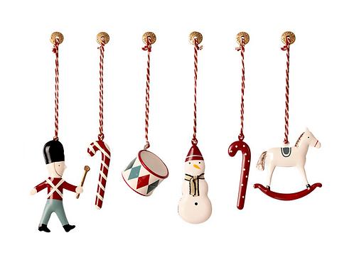 Metal Ornaments in Box - Classic