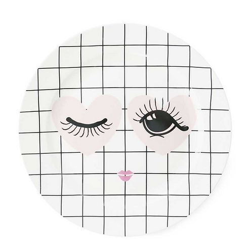 New Bone China Heart & Eyes Plate