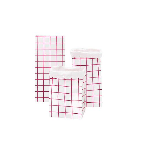 Pink Checkered Block Bottom Bag