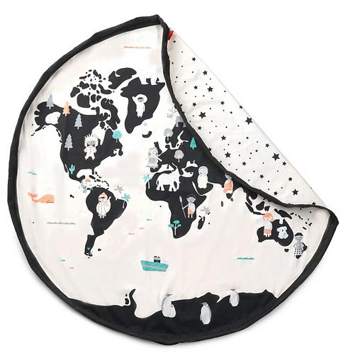 World Map  Play Mat Bag