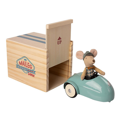 Mouse Car with Garage - Blue