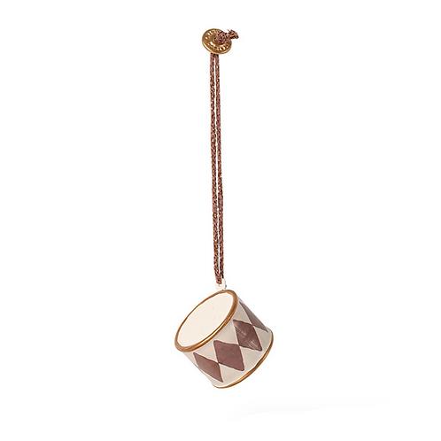 Metal Ornament Small Drum - Dusty grape