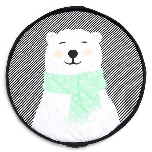 Soft Polar Bear Play Mat Bag