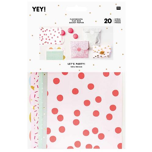 Flat Paper Bag Sweet Heart (S)