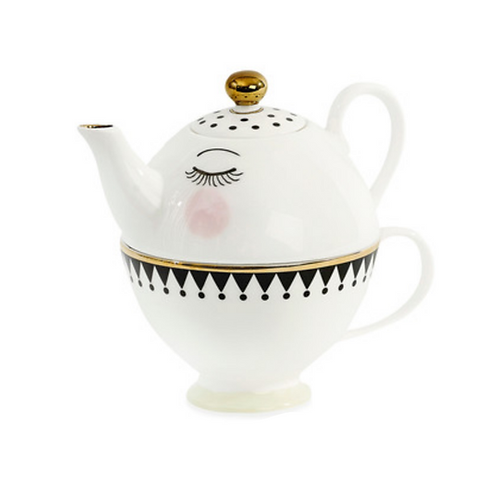 Closed Eyes Mini Teapot & Cup Set