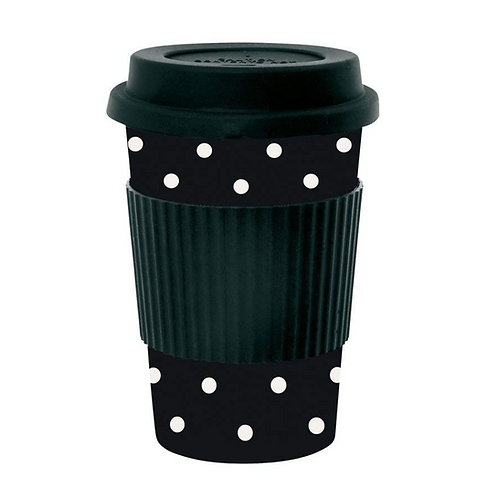 White Dots Travel Mug