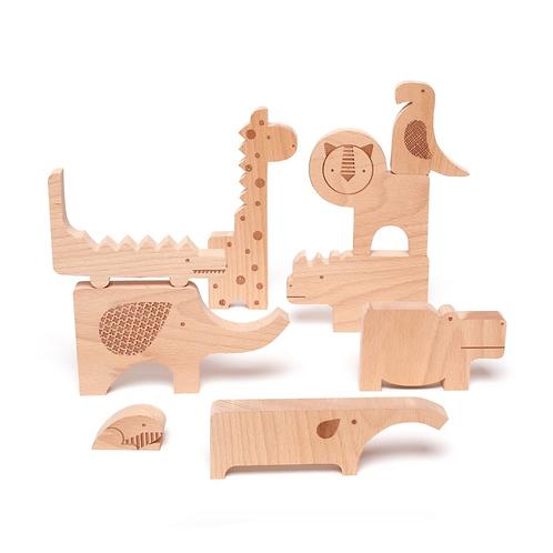 Safari Jungle Holz Puzzle & Spielset