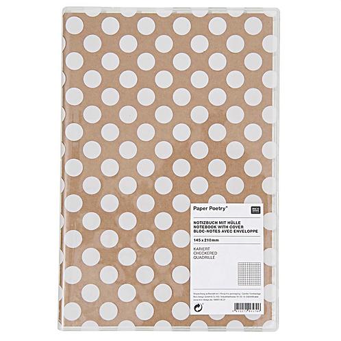 Weißes Tupfen Notizbuch