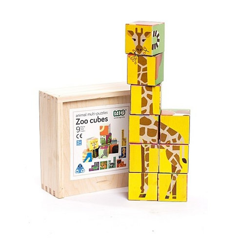 Zoo Wooden Cubes