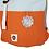 Thumbnail: Roll Top Backpack - Orange/Light Blue