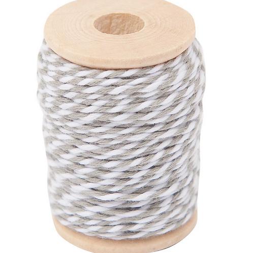 Grey - White Cotton Twine