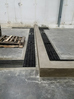 Floor Drains and Concrete Curb