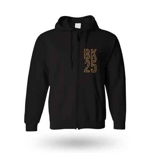 BK25 Zip Hoodie (Black)