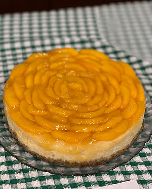 Peach Recipe- Peach cheesecake