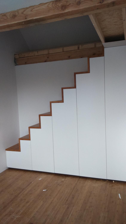 Staircase wardrobe