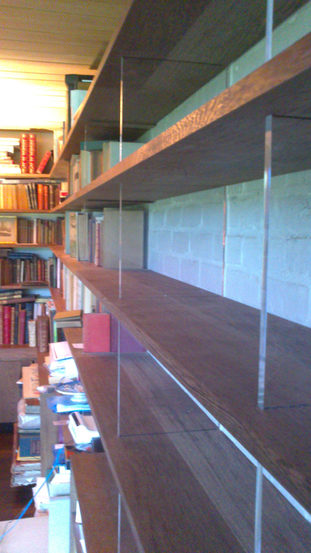 Wenge bookcase detail