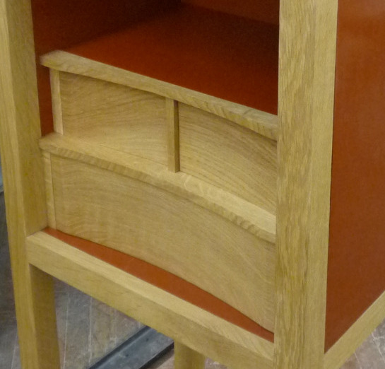 Curved drawer detail