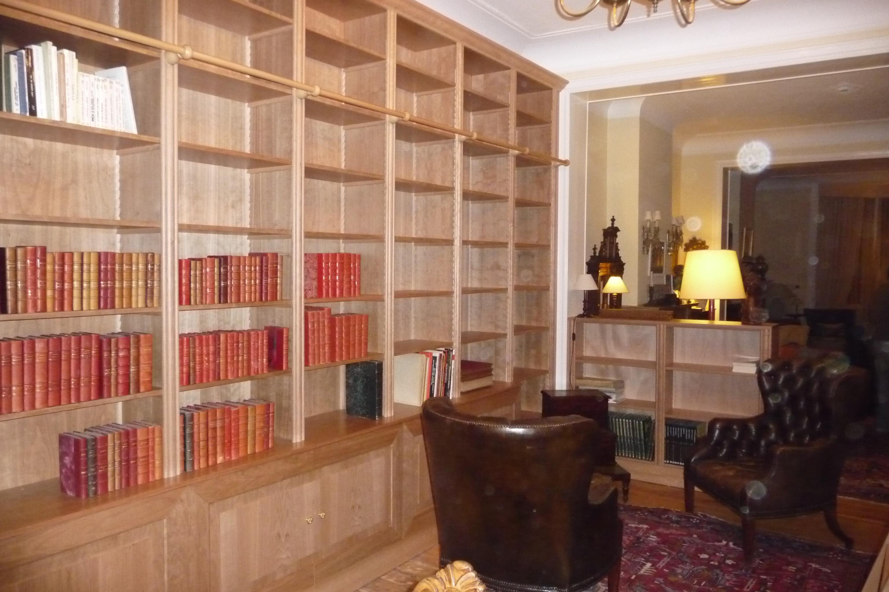 Cherry wood bookcase