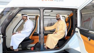 His Highness Sheikh Mohammad bin Rashid Al Maktoum, Ruler of Dubai and His Highness Rashid bin Mohammed Al Maktoum, Crown Prince of Dubai tried uSky Transport at the World Government Summit