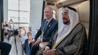 His Highness Dr. Sheikh Sultan bin Muhammad Al Qasimi, Ruler of Sharjah witnessed the launch of uSky project for a hanging track transport system and uCar at Sharjah