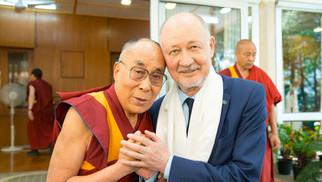 Tibetan spiritual leader the Dalai Lama XIV met uSky General Designer Anatoli Unitsky in the city of Dharmshala