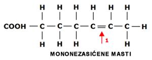 hemijska struktura mononezasicenih masti lchf